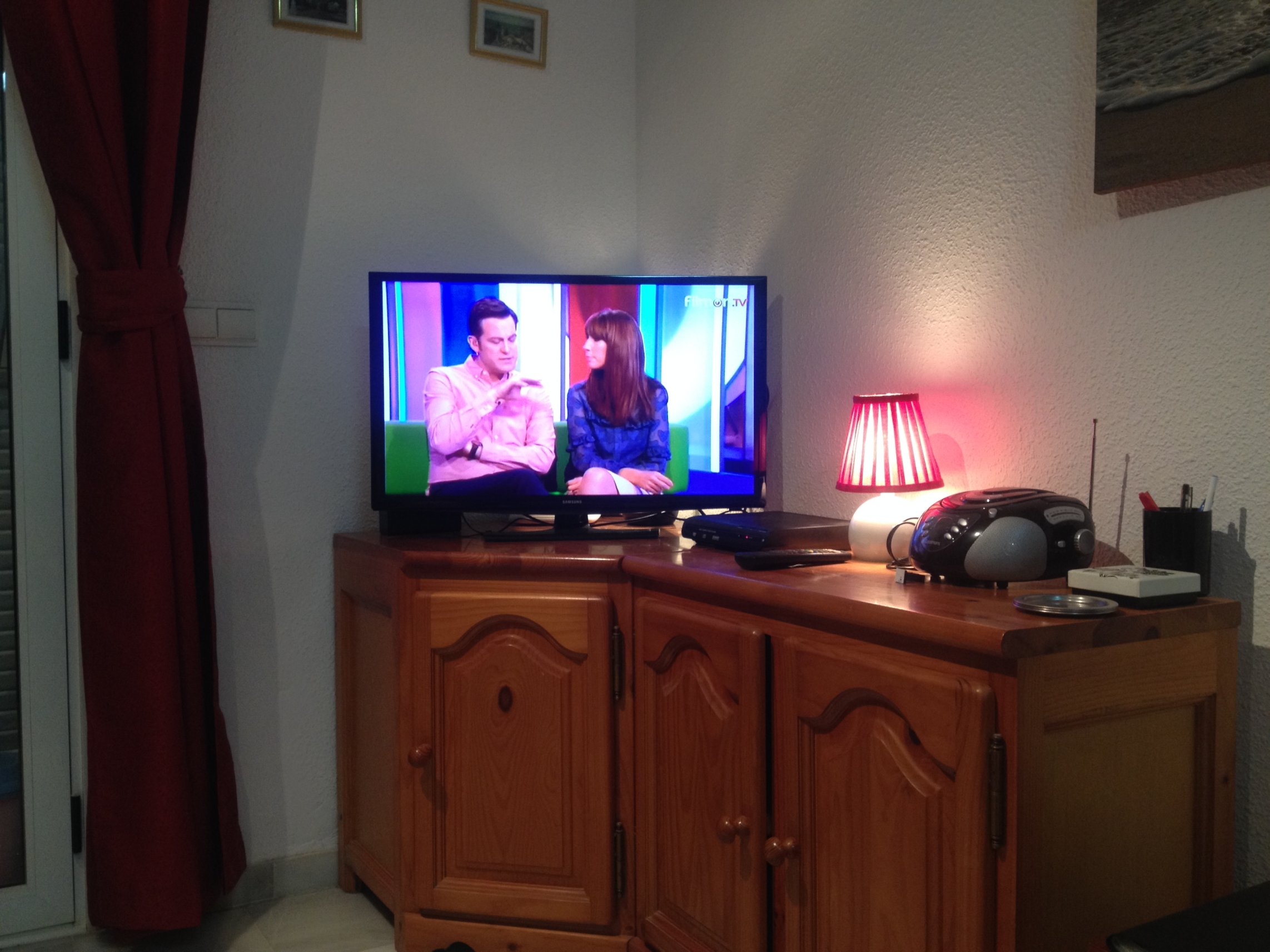 Lounge pic showing TV corner